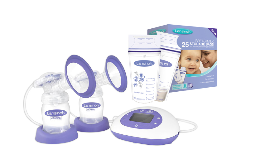 Lansinoh® 2-in-1 Double Electric Breast Pump & Lansinoh® Breastmilk Storage Bags